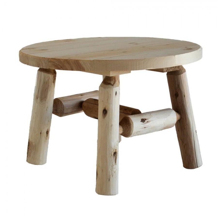 Lakeland Mills Cedar Log Round Coffee Table, Natural