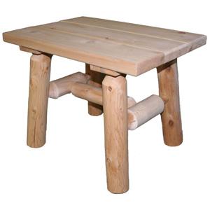 Lakeland Mills Cedar Log End Table