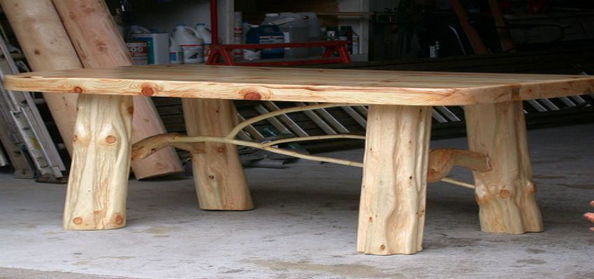 What type of wood can you use to make log furniture